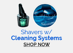 Shavers with Cleaning Systems