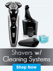 Shavers with Cleaning System