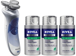 Norelco HS8420 + HS803 Nivea for Men Shaver